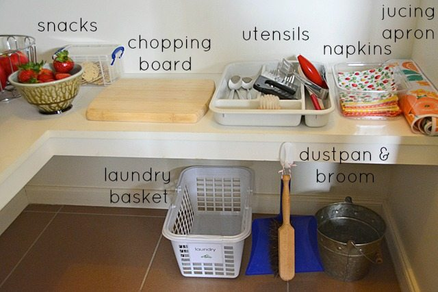 Lunchboxes and a Montessori style Kitchen
