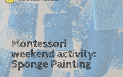 Montessori DIY: Sponge Painting