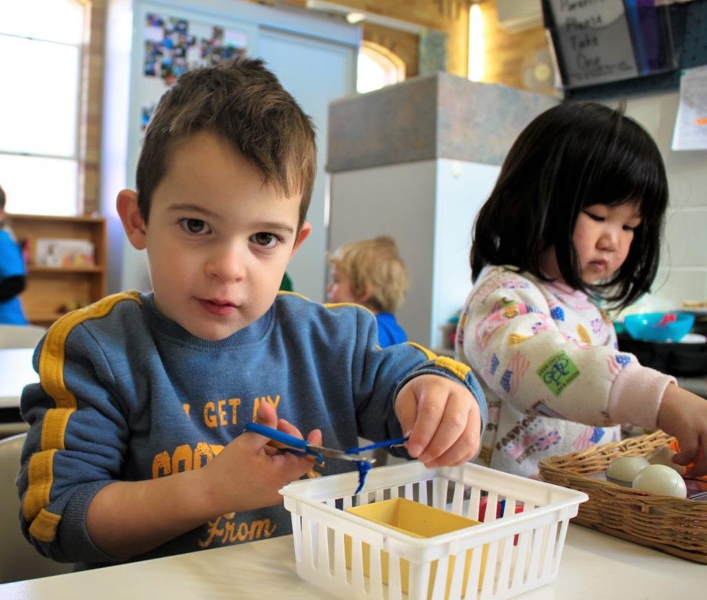 Beverly Montessori kids in activity