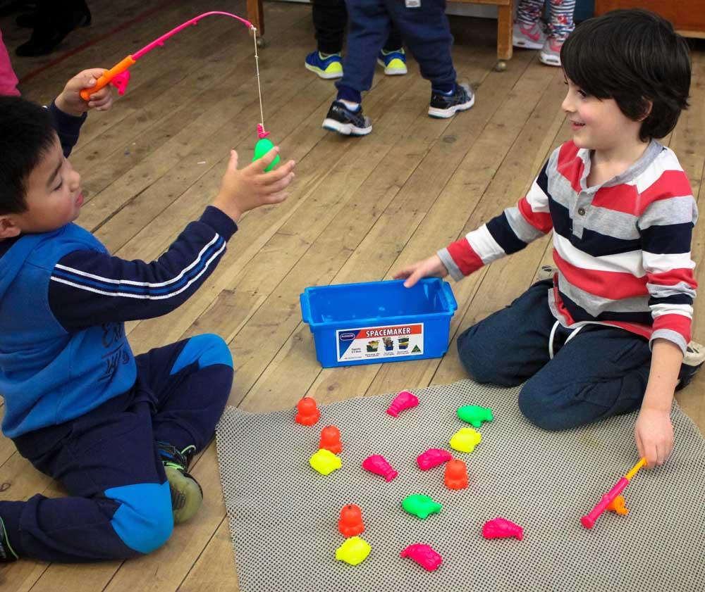 Beverly Montessori boys play fishing