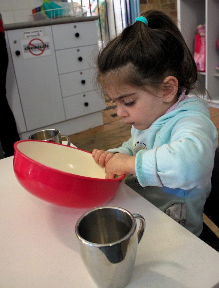 Child in activity - Beverly Montessori