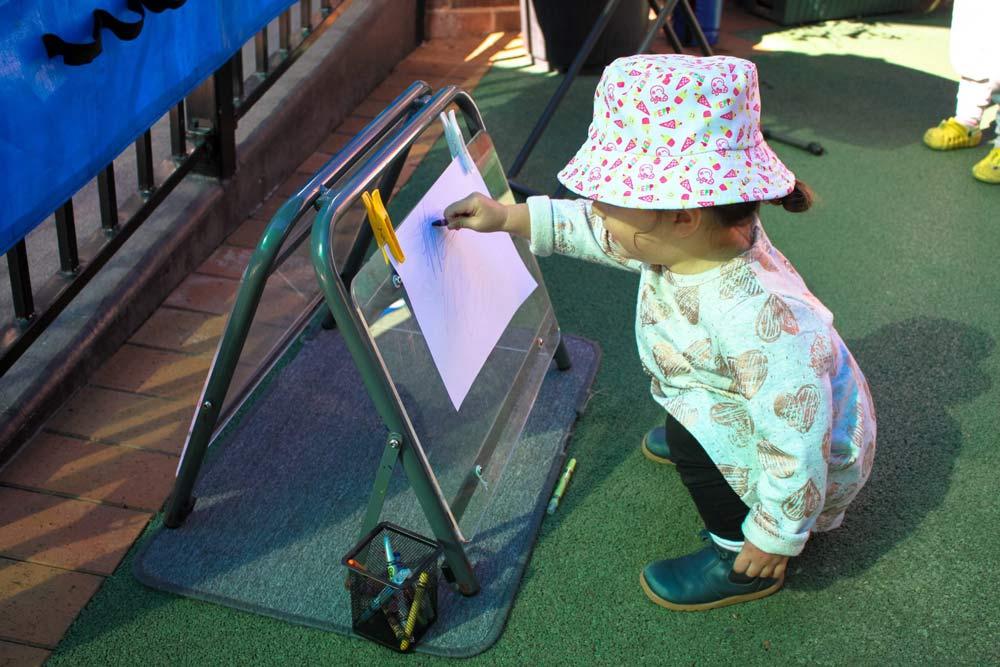 Beverly Montessori child drawing
