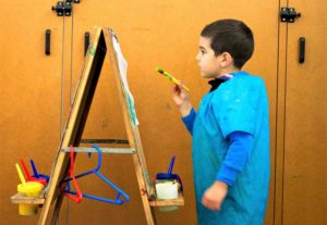 Beverly Montessori child painting
