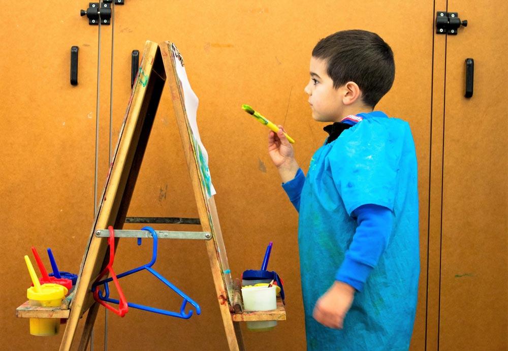 Beverly Montessori child painting