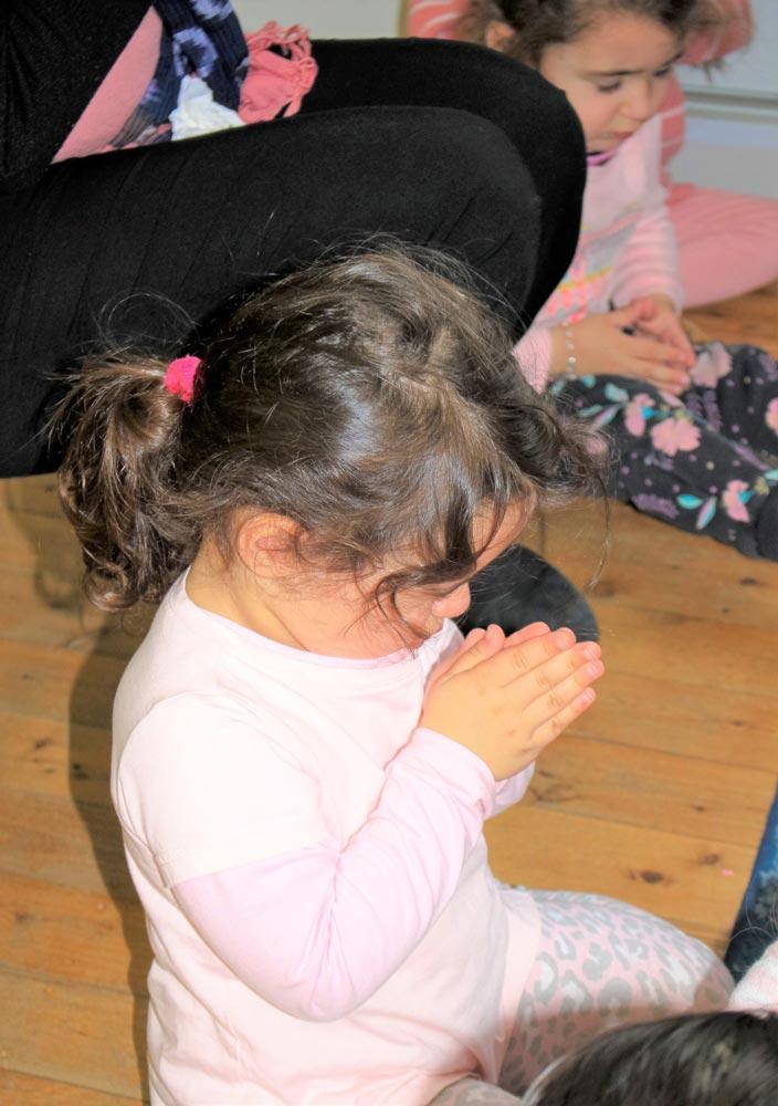 Beverly Montessori child praying