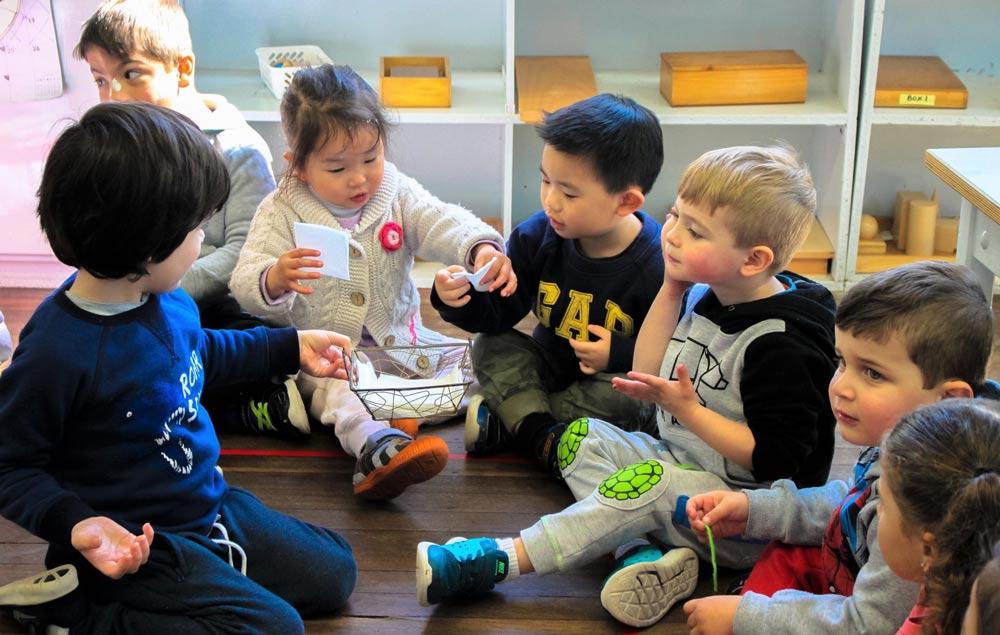 Beverly Montessori children talking