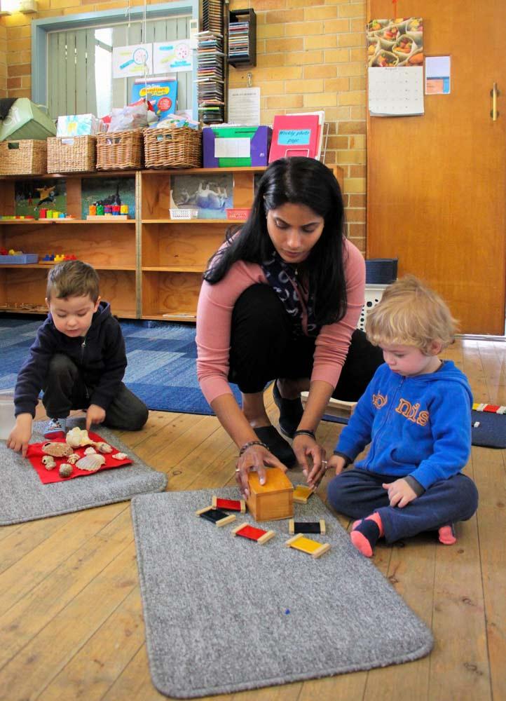 Beverly Montessori children with teacher