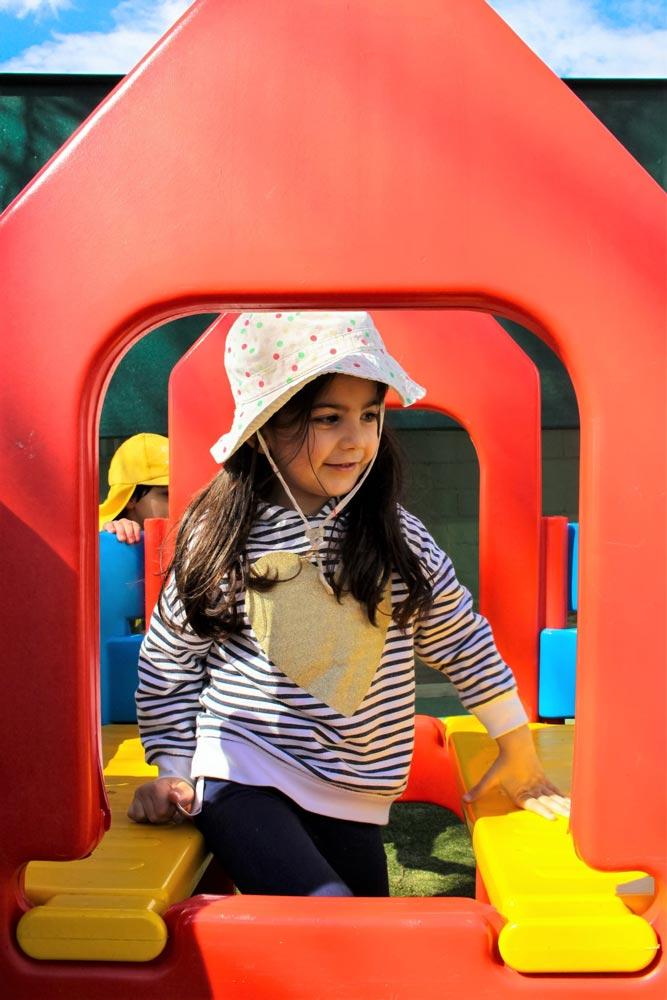 Beverly Montessori girl in playground