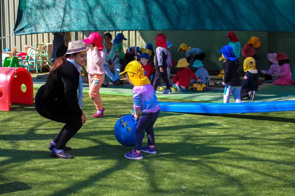 Beverly Montessori kids in playground