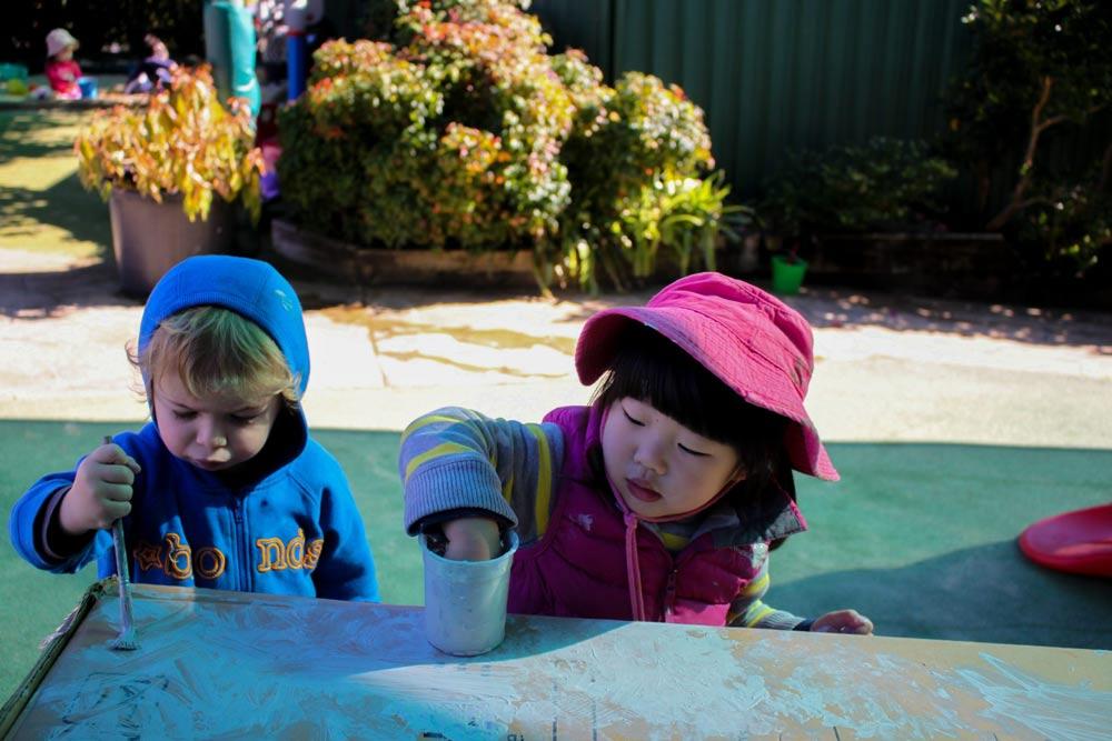 Beverly Montessori kids playing
