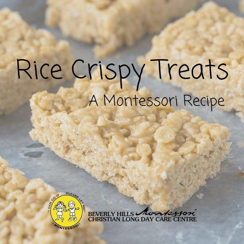 Rice Crispy Treats – a Montessori Recipe
