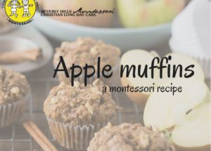 Montessori apple muffins recipe