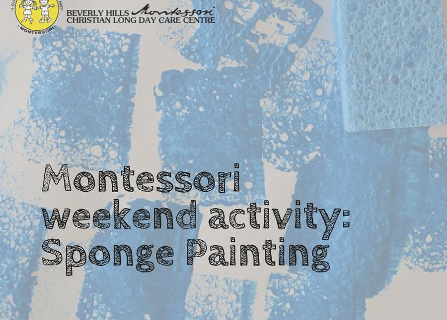 Montessori DIY: Sponge Painting